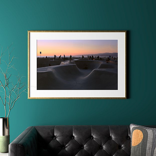 """sunset with gold frame 40.5""""x28"""""""
