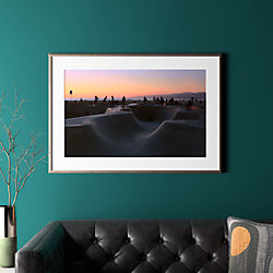 "sunset with pewter frame 40.5""x28"""