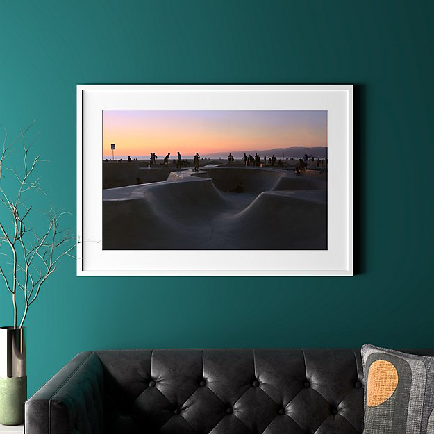 """sunset with white frame 40.5""""x28"""""""