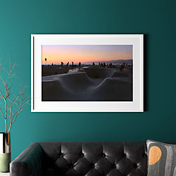 "sunset with white frame 40.5""x28"""