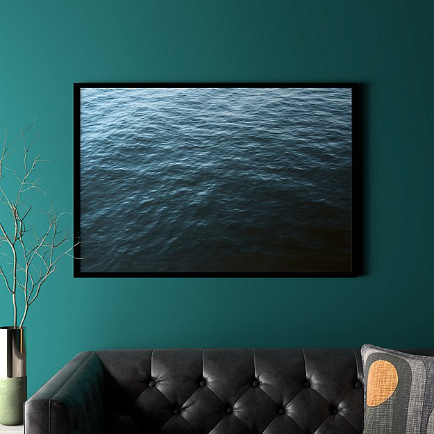 """water with black frame/no mat 41.5""""x28.25"""""""