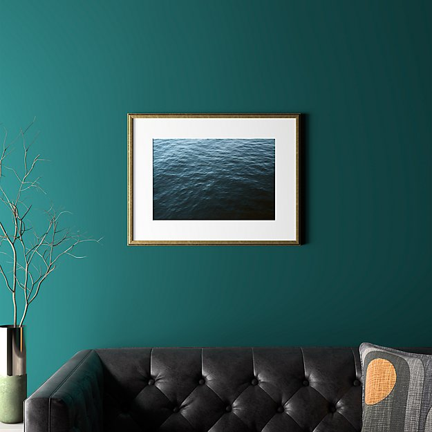 """water with gold frame 25.5""""x19.5"""""""