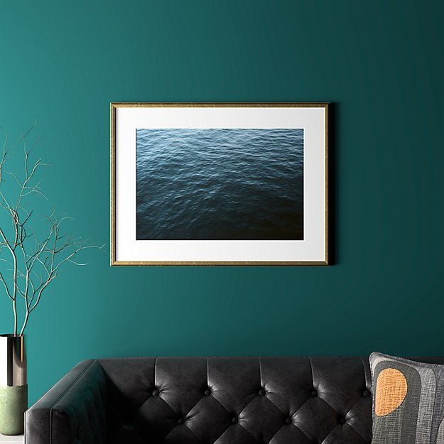 """water with gold frame 31.5""""x23.5"""""""