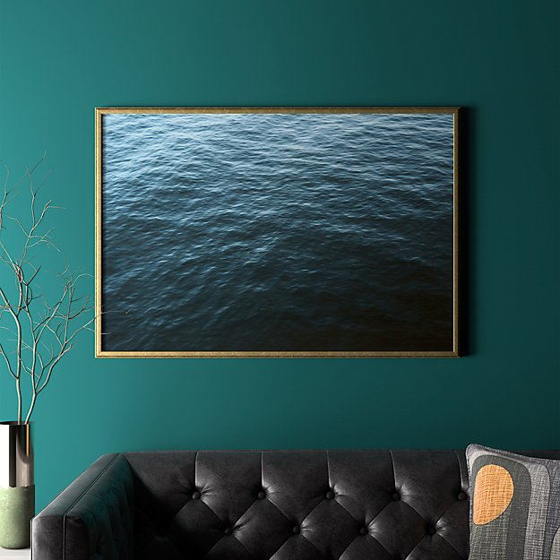 """water with gold frame/no mat 41.5""""x28.25"""""""