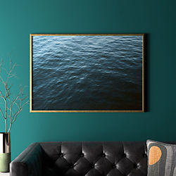 "water with gold frame/no mat 41.5""x28.25"""