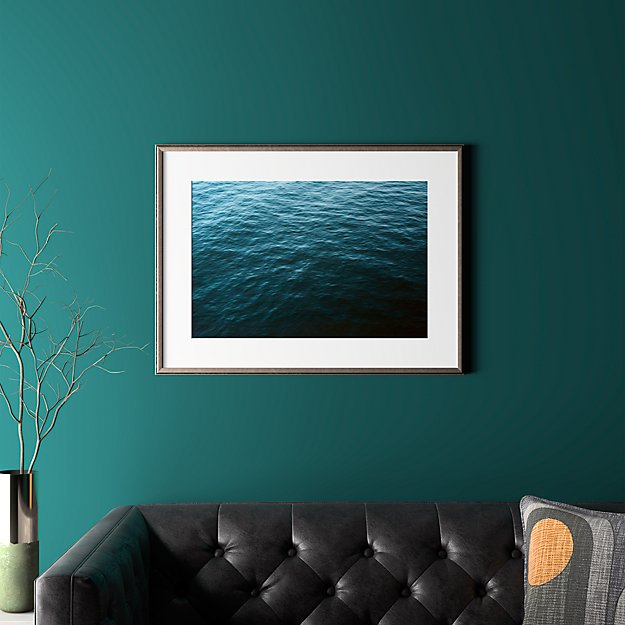 """water with pewter frame 31.5""""x23.5"""""""