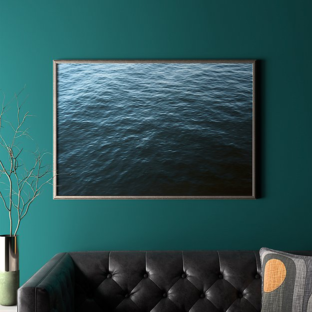 """water with pewter frame/no mat 41.5""""x28.25"""""""