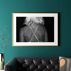 "x with gold frame 41.5""x30.25"""