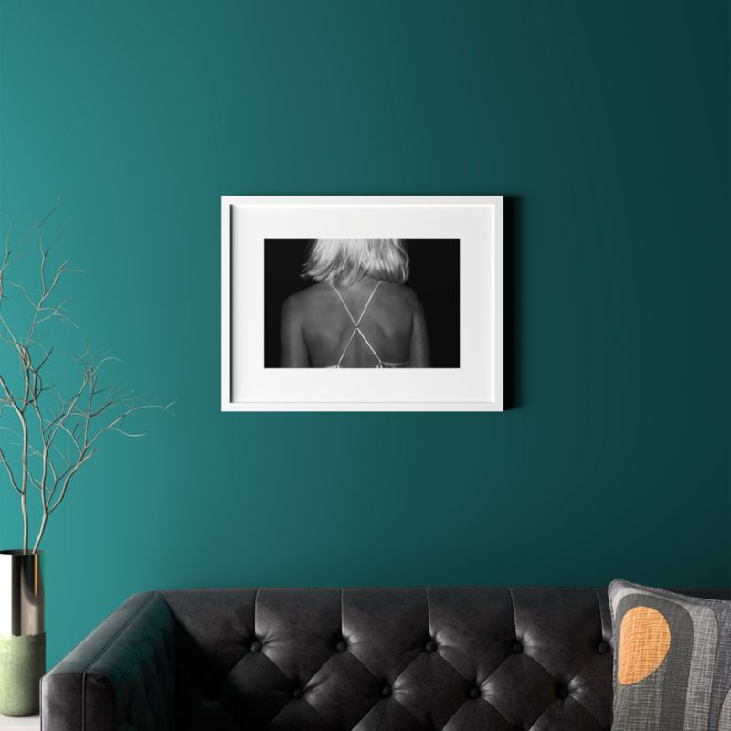 "X With White Frame 24.5""X18.75"" by Crate&Barrel"
