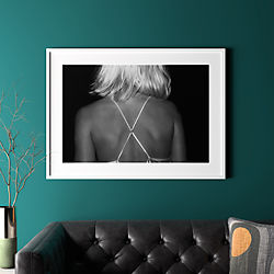 "x with white frame 41.5""x30.25"""