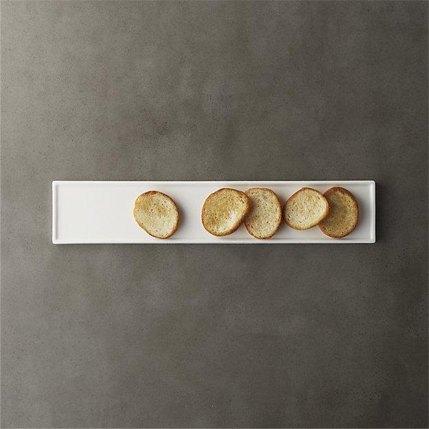 narrow rectangular platter
