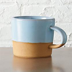 natural clay mug
