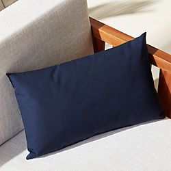 "20""x12"" navy outdoor pillow"