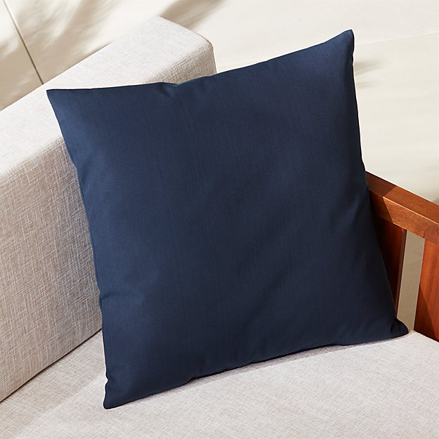 "20"" navy outdoor pillow"