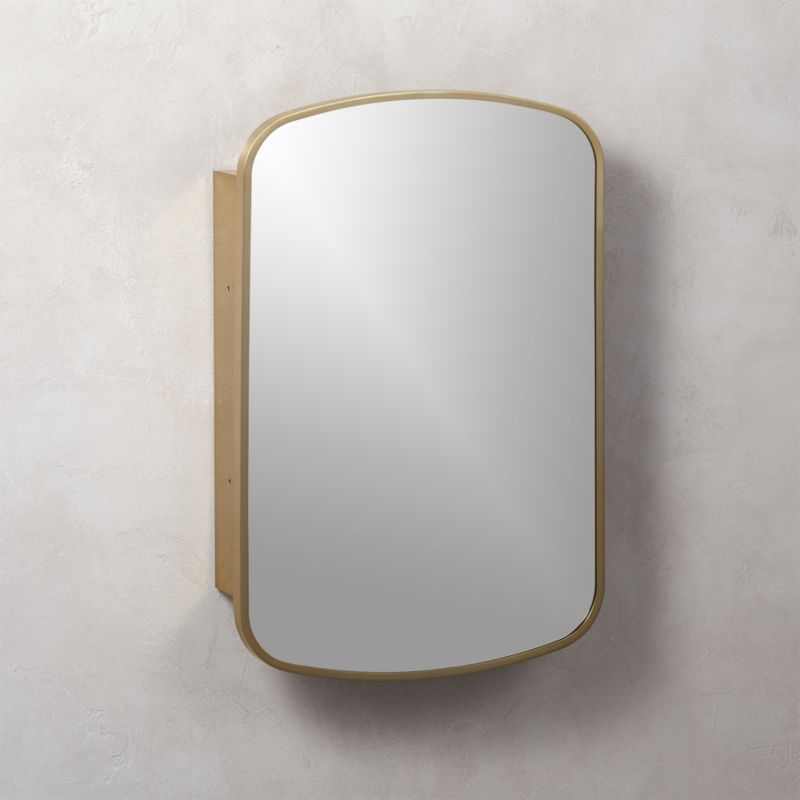 modern bathroom mirrors. Nel Brass Medicine Cabinet Modern Mirrors for Bedrooms and Bathrooms  CB2