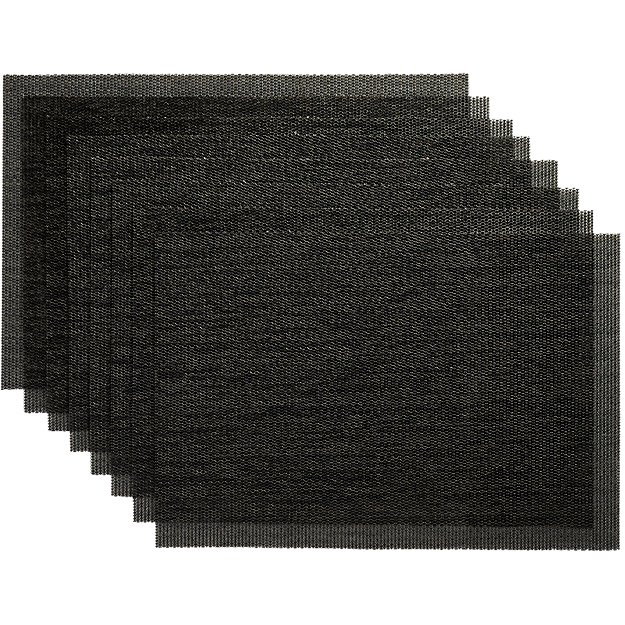 set of 8 net carbon placemats