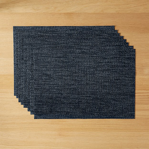 set of 8 net navy blue placemats