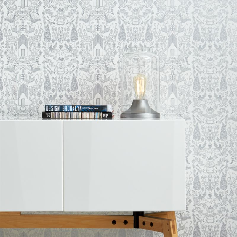 nethercote silver traditional paste wallpaper