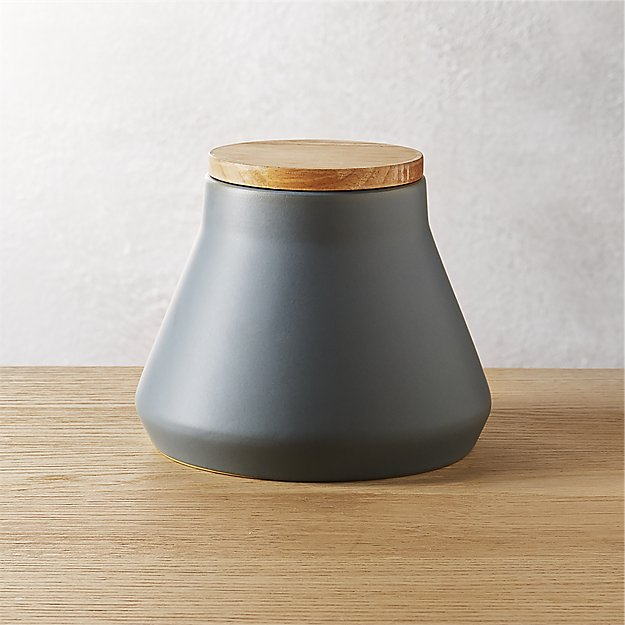 neutral medium light grey canister