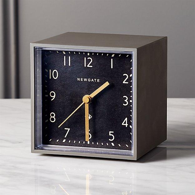 Newgate ® grey and black cubic alarm table clock