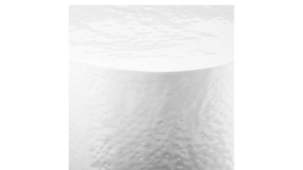 Nicks White Hammered Side Table