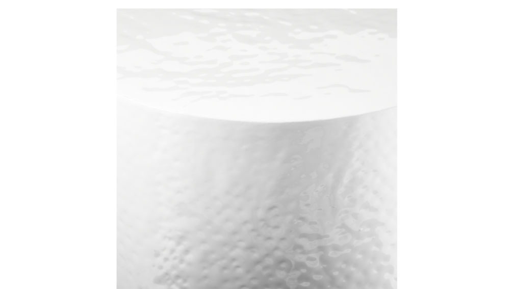 Nicks White Hammered Side Table