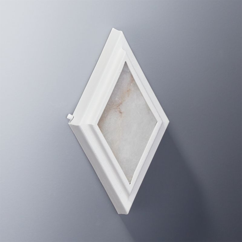 Cb2 Repeat Wall Sconces : Nina Alabaster White Diamond Wall Sconce CB2