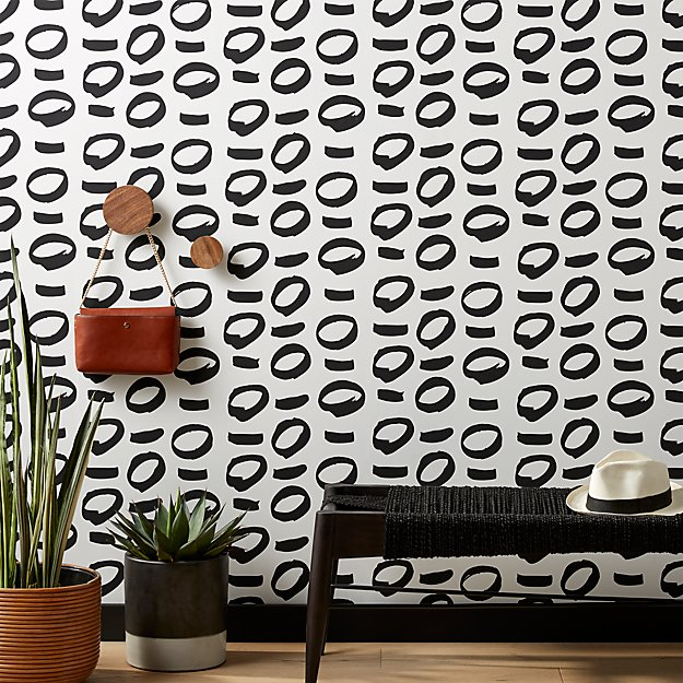No Regrets Black and White Traditional Paste Wallpaper