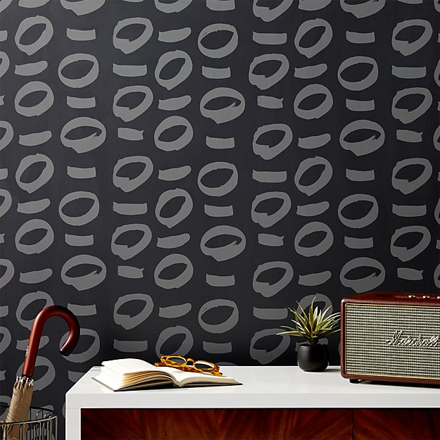 No Regrets Grey and Grey Traditional Paste Wallpaper
