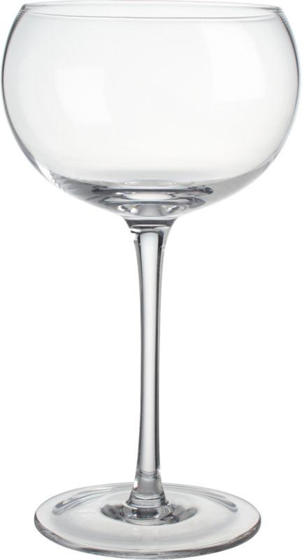 noche clear wine glass