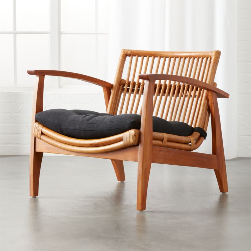Beautiful Noelie Rattan Lounge Chair With Cushion