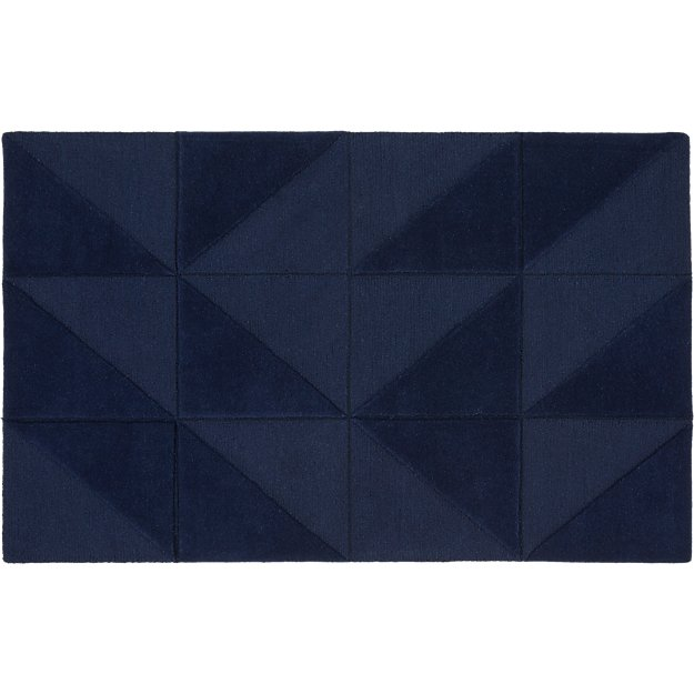 Nora Navy Tufted Rug 5'x8'