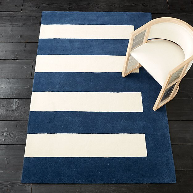 noren blue-white rug
