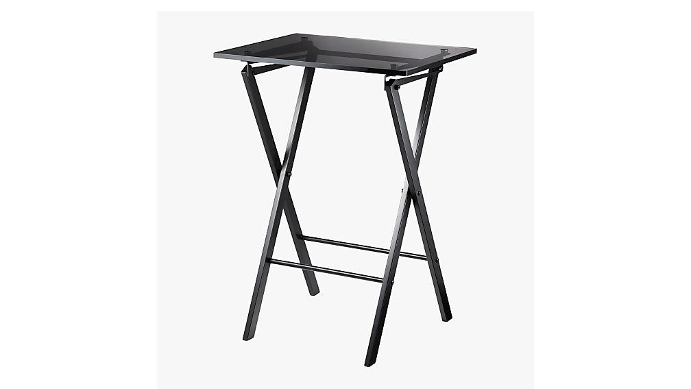 Novo Black Acrylic Folding Table