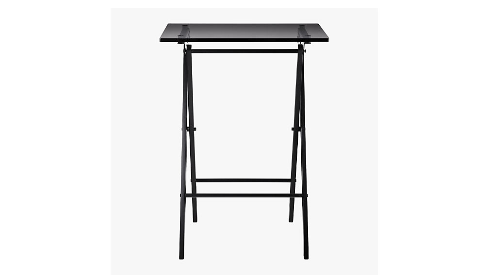 Novo Black Acrylic Folding Table