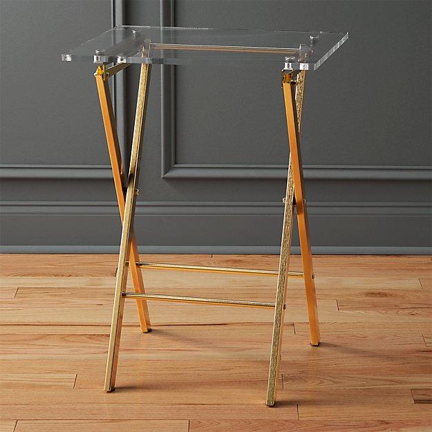 Novo Acrylic Folding Table Reviews Cb2