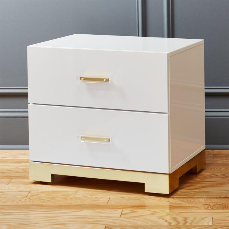 Modern Bedside Table modern nightstands and bedside tables | cb2