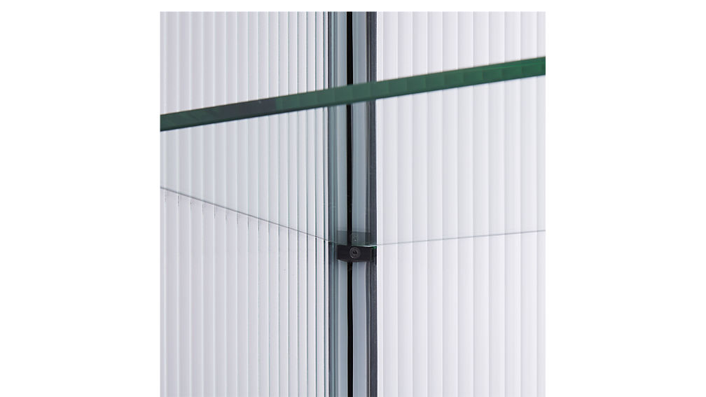 odean large glass cabinet
