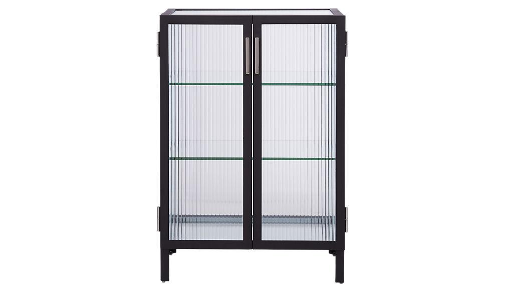 odean small glass cabinet