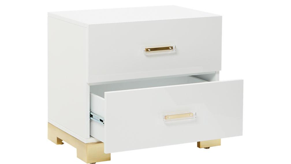 odessa white gloss nightstand