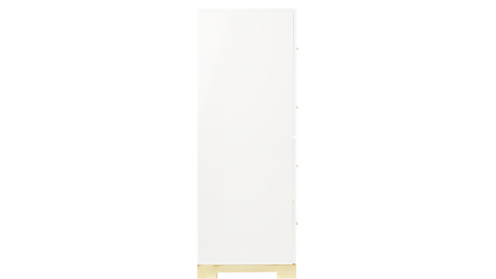odessa tall white gloss chest of drawers