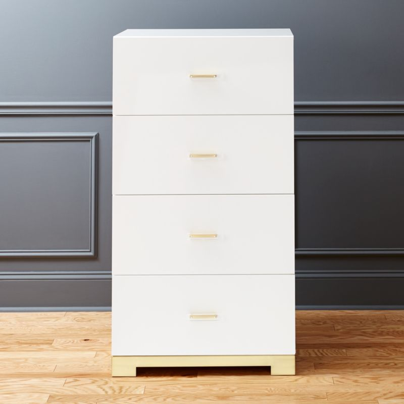 white lacquered furniture. Odessa Tall White Gloss Chest Of Drawers Lacquered Furniture S