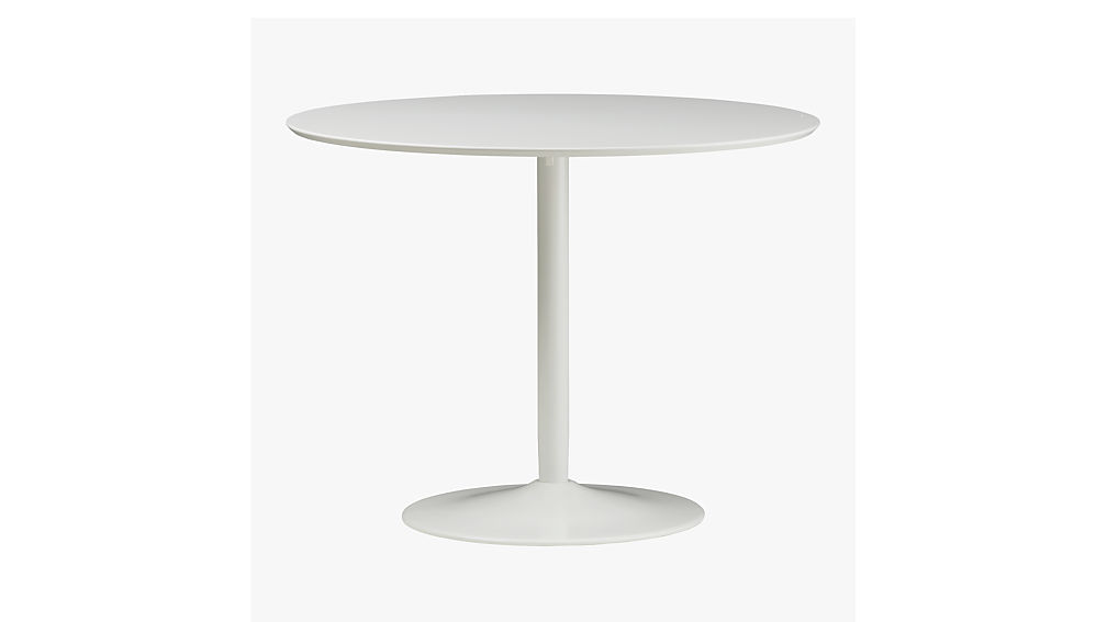odyssey white tulip dining table CB2