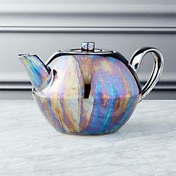 Oil Slick Reactive Luster Teapot