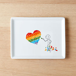 oliver candy heart appetizer plate