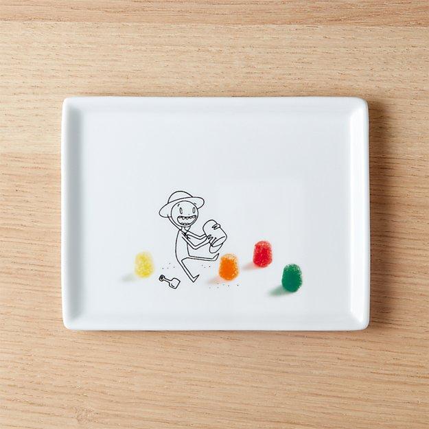 oliver gumdrop castles appetizer plate