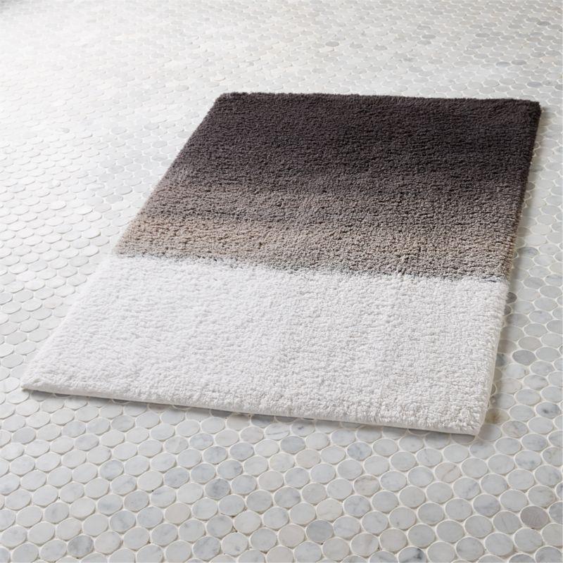 ombre blue bath mat in bath linens Reviews CB2