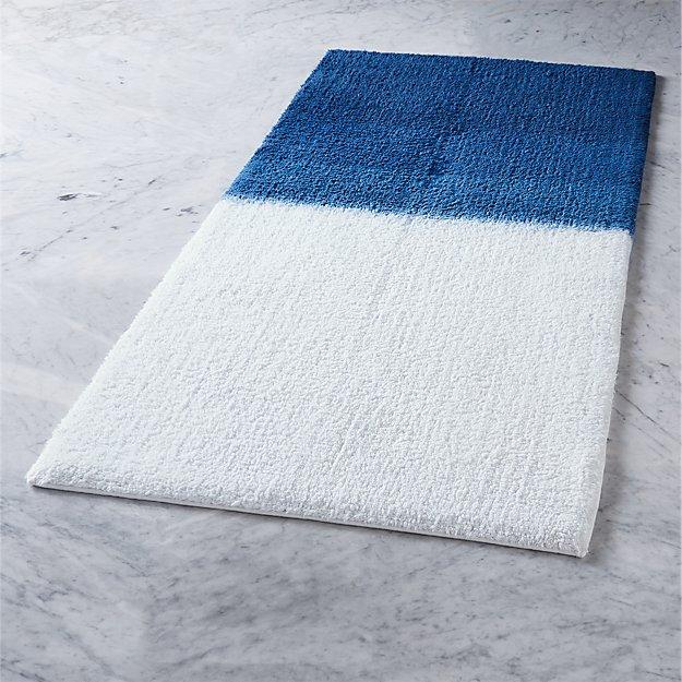 ombre blue bath runner