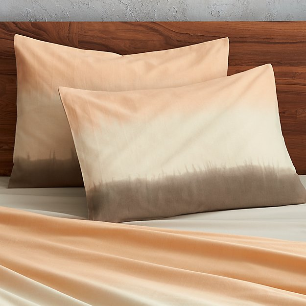 set of two ombre standard shams