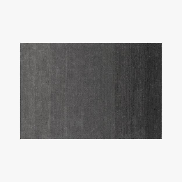 ombre grey rug 6'x9'